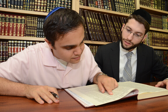 Brandon Goldberg with Rabbi Abi Nadoff
